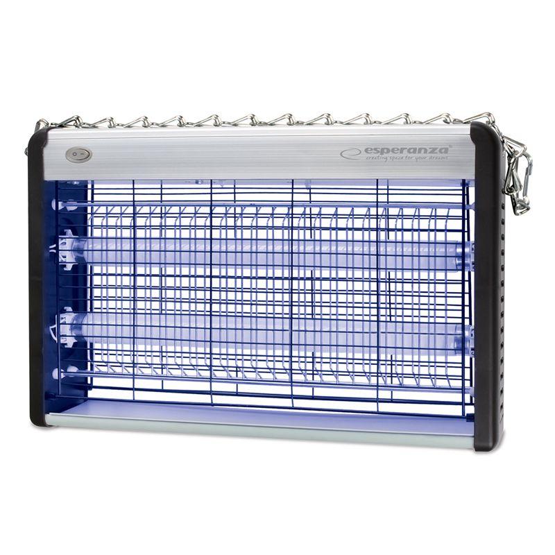 Lampa UV impotriva insectelor Esperanza, 2 x 10 W, 80 mp 2021 shopu.ro