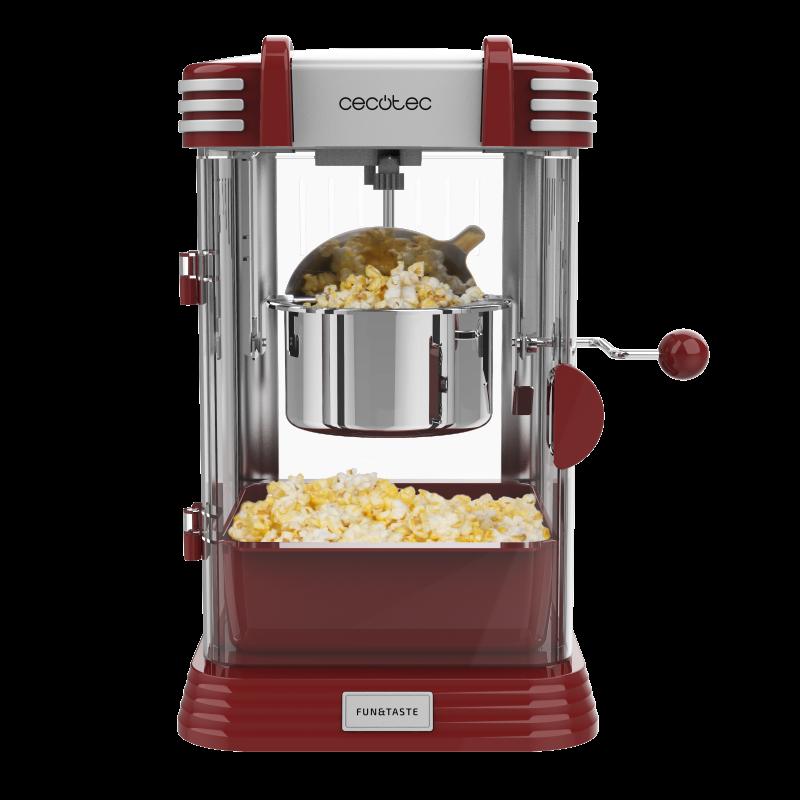Aparat pentru popcorn Cecotec Fun Taste Corn Classic, 300 W, inox, lumina interna 2021 shopu.ro