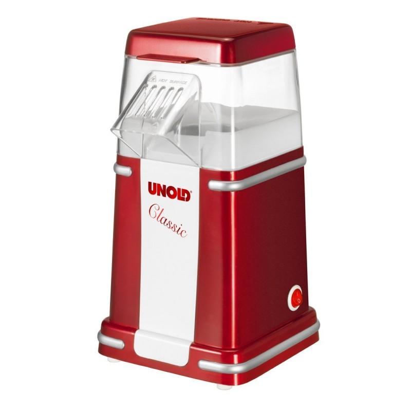 Aparat popcorn Unold, 900 W, 100 g, capac detasabil, protectie supra-incalzire 2021 shopu.ro