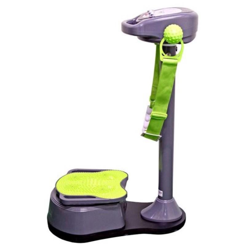 Aparat vibromasaj pentru picioare DHS, 80 W, curea inclusa, maxim 120 kg, Verde/Gri 2021 shopu.ro