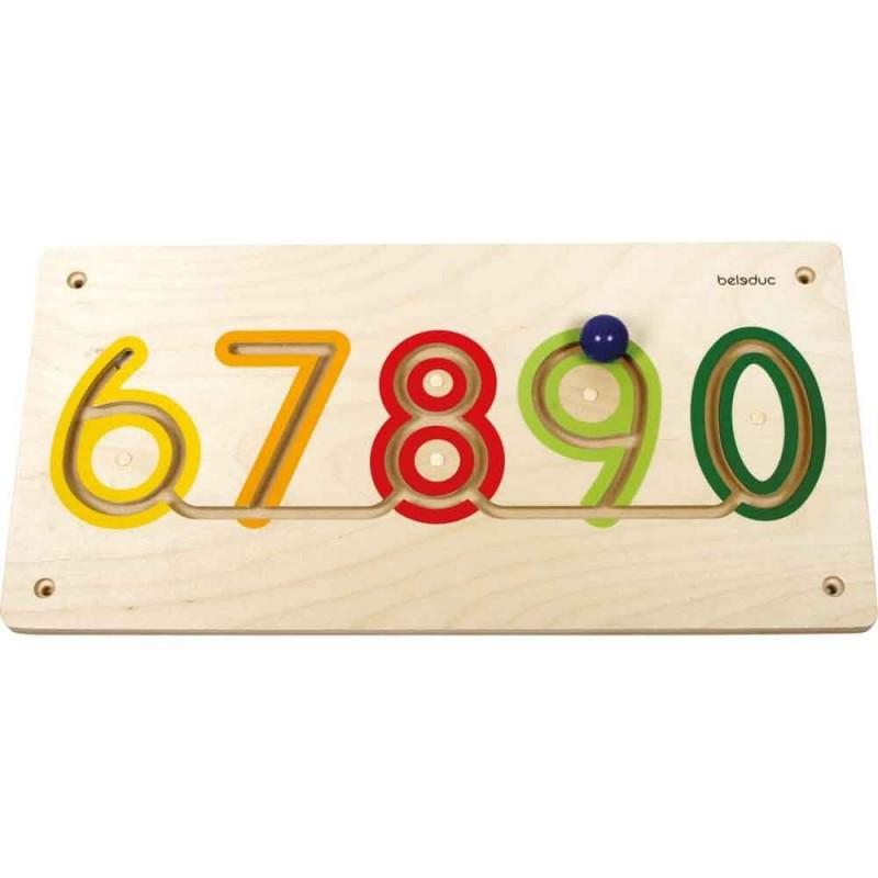 Aplicatie de perete Numere 6-9 Beleduc, lemn 2021 shopu.ro