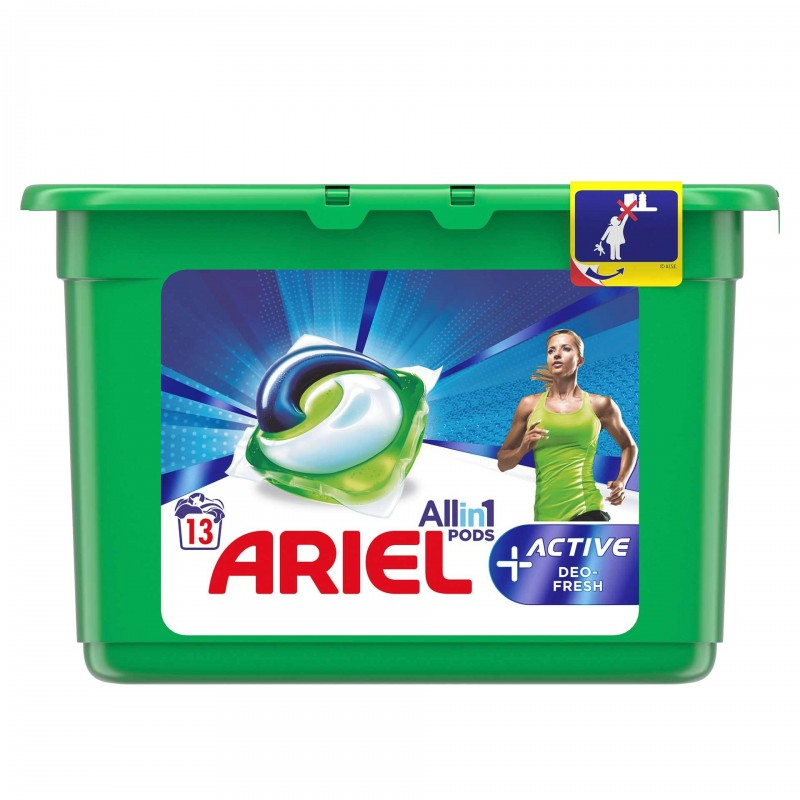 Detergent de rufe Ariel All in 1 Pods Active Deo fresh, 13 x 30 ml 2021 shopu.ro