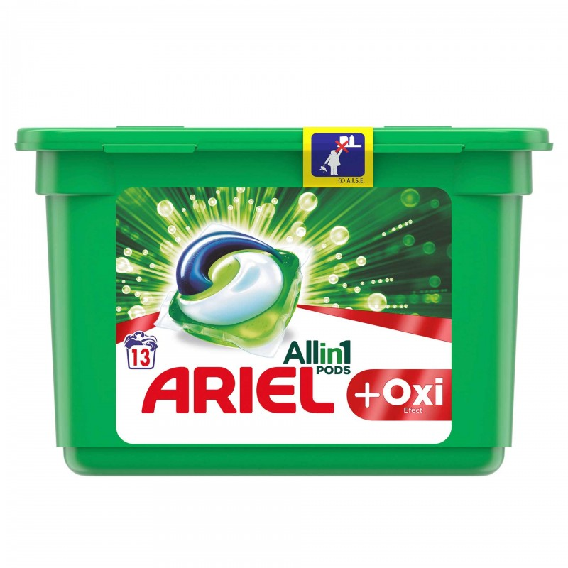 Detergent de rufe Ariel All in 1 Pods Oxi Effect, 13 x 30 ml 2021 shopu.ro