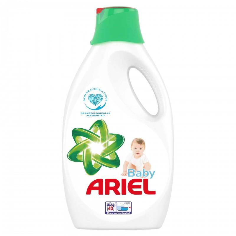 Detergent de rufe lichid automat Ariel Baby, 2.2 l 2021 shopu.ro