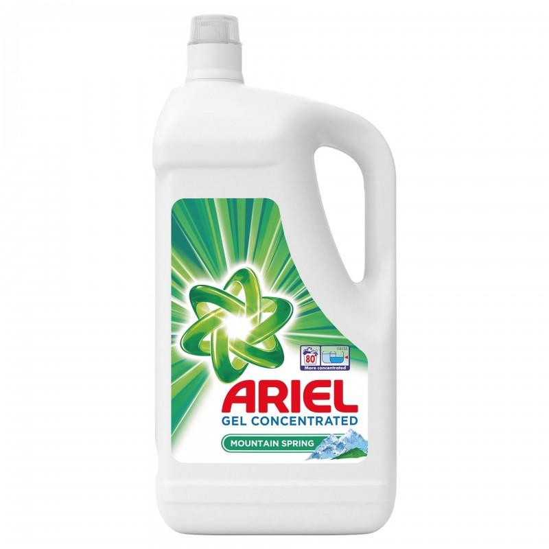 Detergent de rufe lichid automat Ariel Mountain Spring, 4.4 l, 80 spalari, capac peri flexibili 2021 shopu.ro