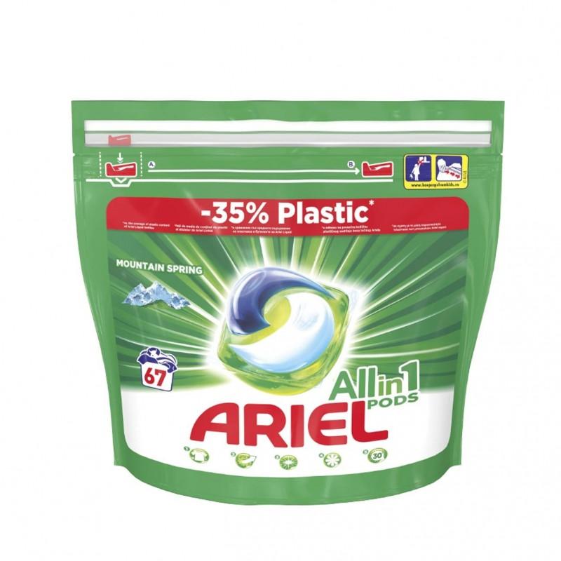 Detergent automat Ariel Pods Mountain Spring, 67 x capsule gel 2021 shopu.ro