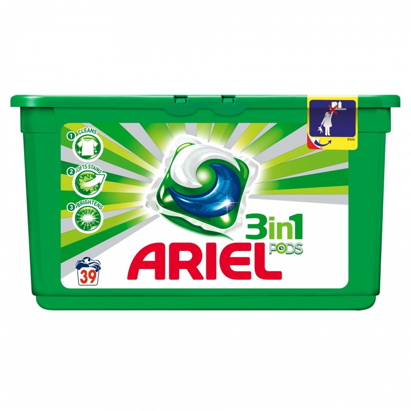 Detergent de rufe Ariel gel capsule Pods Regular, 39 capsule x 29 ml 2021 shopu.ro
