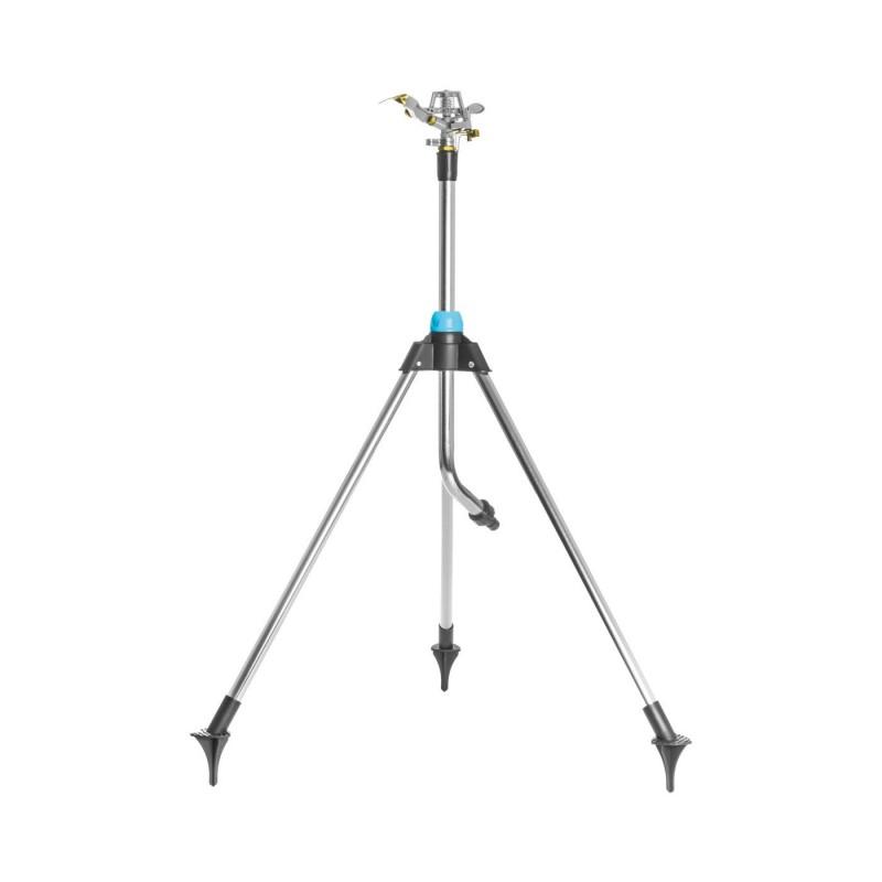 Aspersor Cellfast Range Ideal, pulsator, pini stabilizare, suporti pliabili, reglaj inaltime, unghi reglabil, acoperire 452 m2, otel shopu.ro
