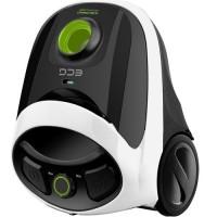 Aspirator cu sac ECG, 800 W, 1.5 l, filtru hepa, raza lucru 7.5 m, cablu 5 m, accesorii incluse, Alb/Negru