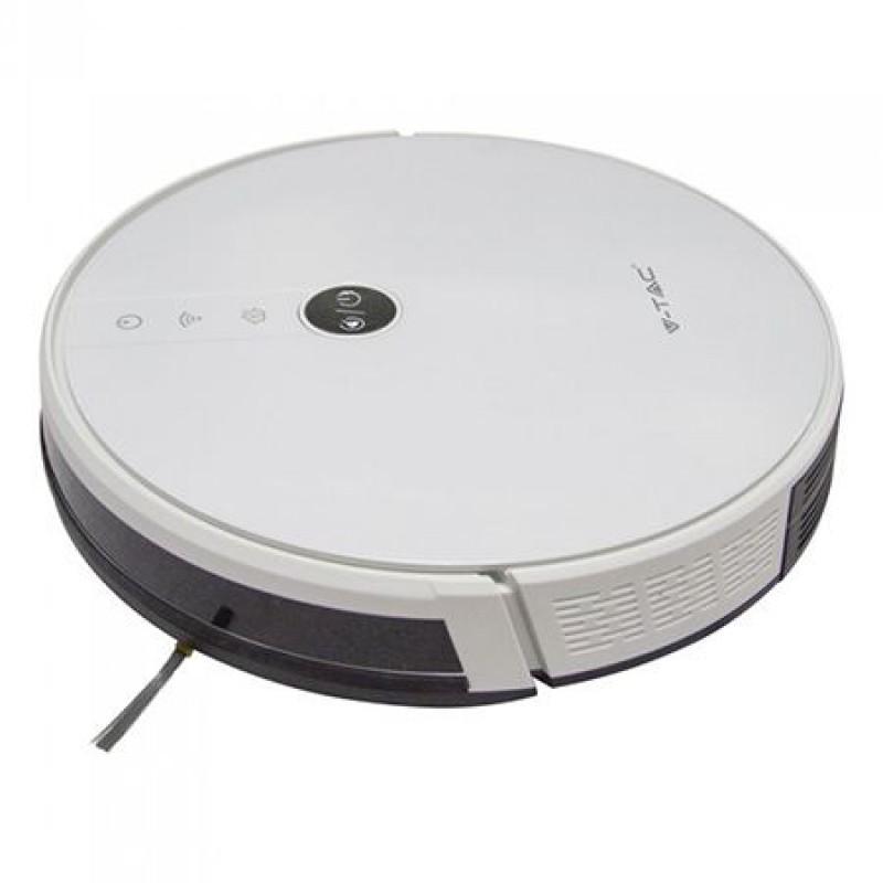 Aspirator Robot Smart, 600 ml, 2500 mAh, 65 dB, motor japonez, Alb 2021 shopu.ro