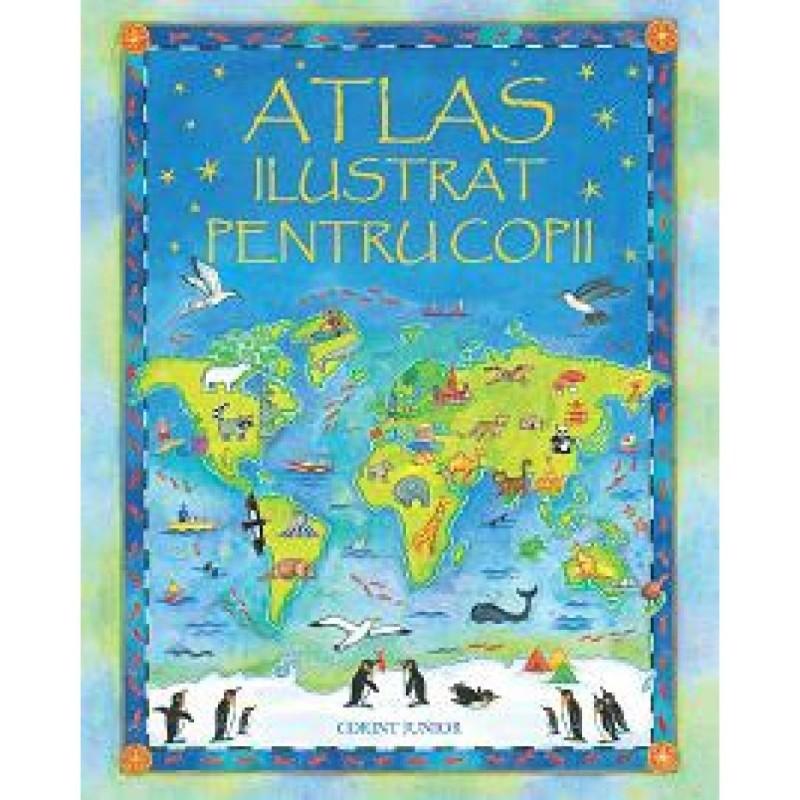 Atlas ilustrat pentru copii Corint, 7 ani+ 2021 shopu.ro