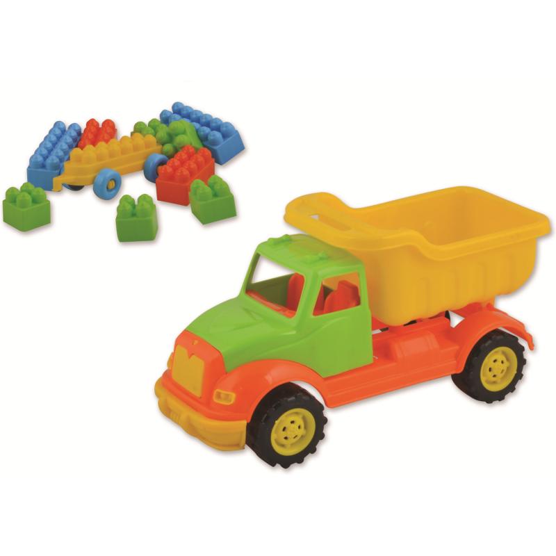 Autobasculanta Ucar Toys, 30 cm, 36 piese constructie 2021 shopu.ro