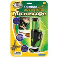 Microscop Brainstorm Toys, zoom 20x, 6 ani+, Verde/Negru