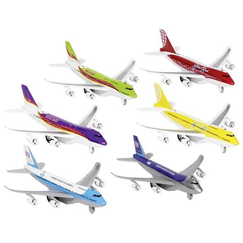 Jucarie interactiva Avion cu lumini/sunete Goki, 18.5 cm, 6 culori, 3 ani+ 2021 shopu.ro
