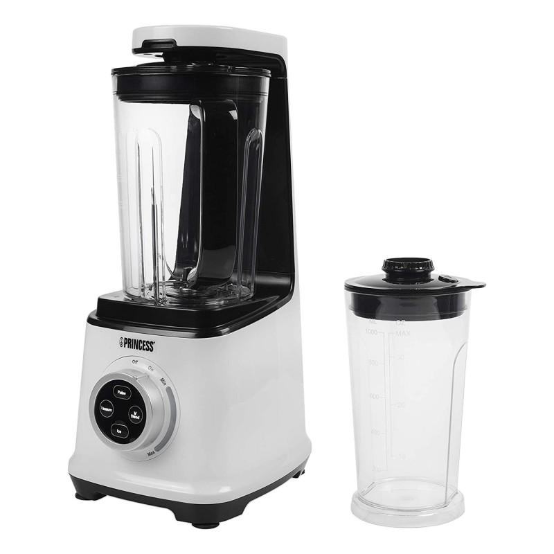 Blender vacuum Princess, 800 W, 1.5 L, functie pulse, buton de siguranta, plastic, alb 2021 shopu.ro