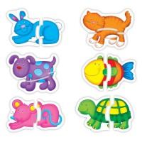 Set de 6 puzzle Baby Puzzle Galt, Animale de companie, 18 luni+