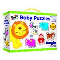 Set de 6 puzzle Baby Puzzle Galt, Animale din jungla, 18 luni+