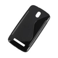 Husa Back Cover Case telefon HTC Desire 500, Negru