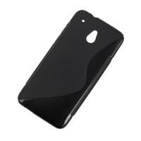 Husa Back Cover Case telefon HTC ONE, Negru