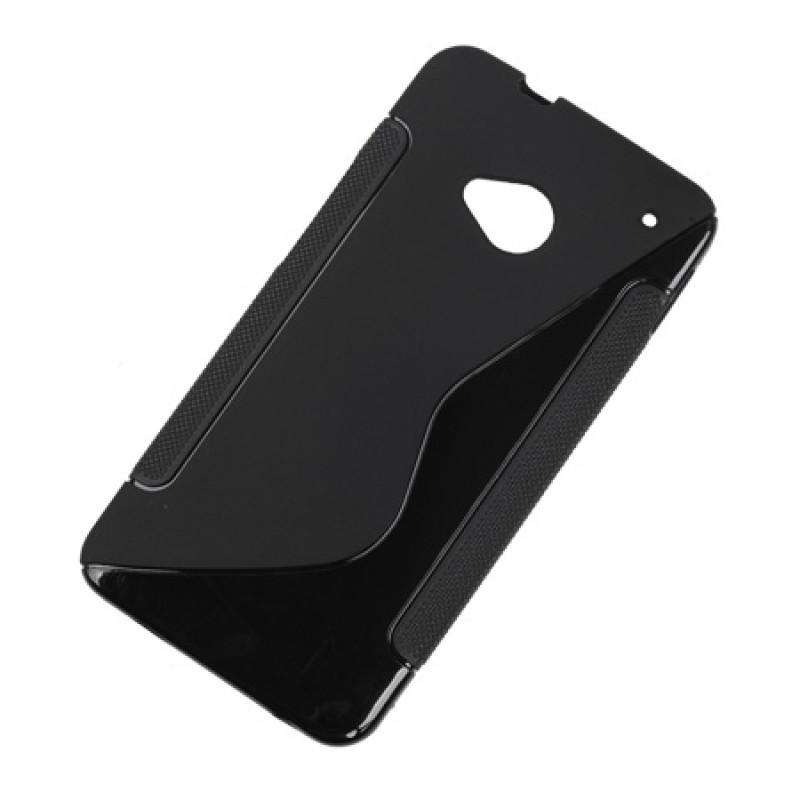 Husa Back Cover telefon HTC ONE M7, Negru 2021 shopu.ro