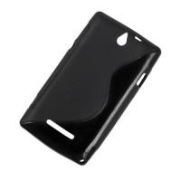 Husa Back Cover telefon Sony Xperia E, Negru