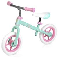 Bicicleta Balance Elfic, 73 x 42 x 54 cm, roti 10 inch, ghidon reglabil, maxim 20 kg, 3-6 ani, Verde/Roz