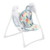 Balansoar pliabil Baby Delight Paintbox Graco, 63 x 63 x 82 cm, 2 viteze, maxim 9 kg, 0-12 luni, Multicolor