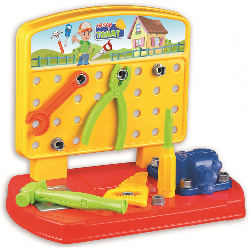 Banc de lucru Handy Tommy Ucar Toys, 28 piese 2021 shopu.ro