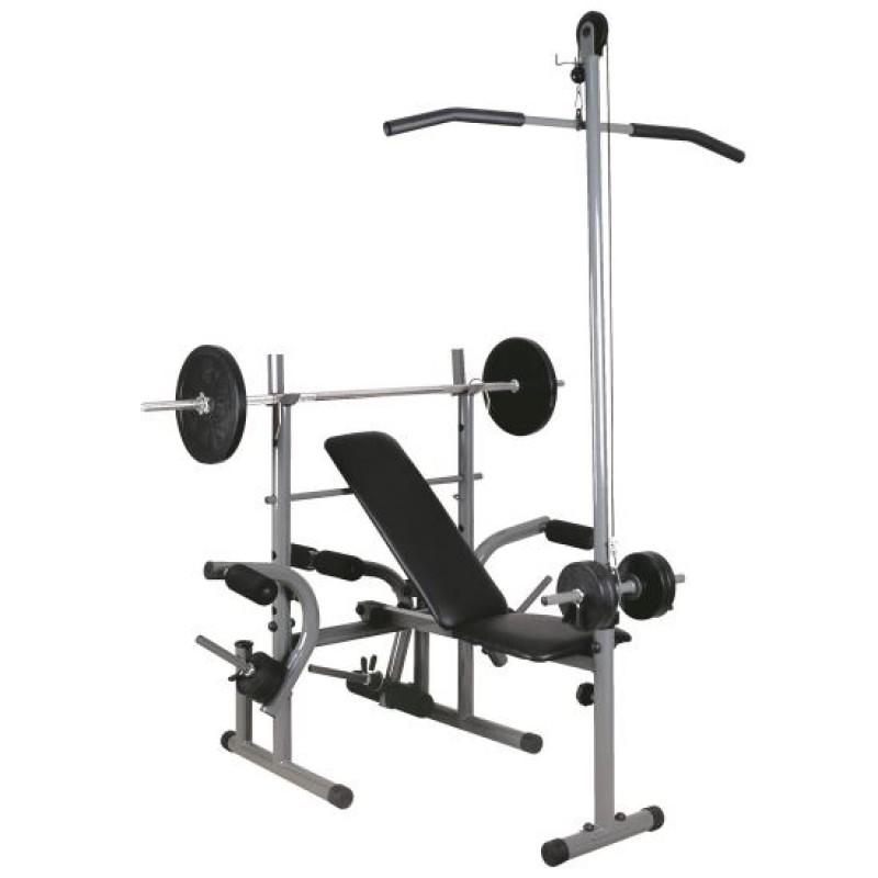 Banca multifunctionala pentru fitness DHS, pozitie ajustabila, suport greutati, maxim 120 kg 2021 shopu.ro