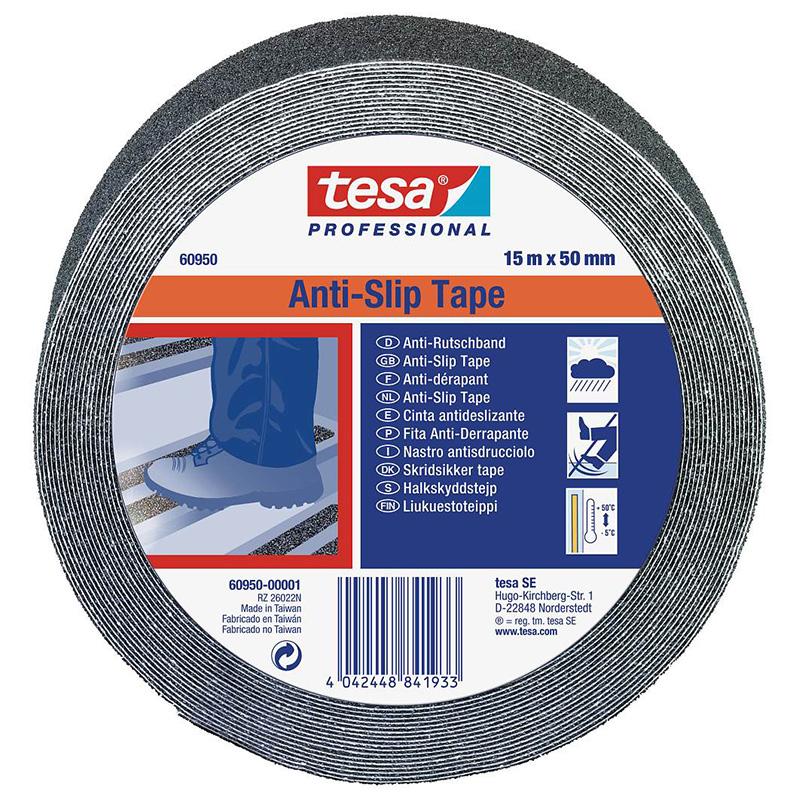 Banda adeziva antiderapanta Tesa, 15 m x 25 mm