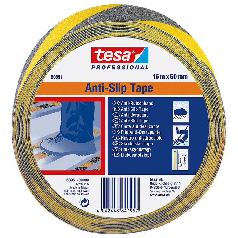 Banda adeziva bicolor antiderapanta Tesa, 15 m x 50 mm 2021 shopu.ro