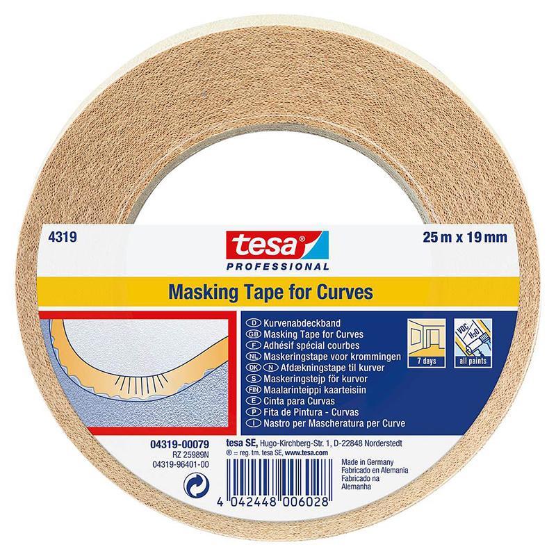 Banda adeziva mascare Tesa, 25 m x 19 mm 2021 shopu.ro