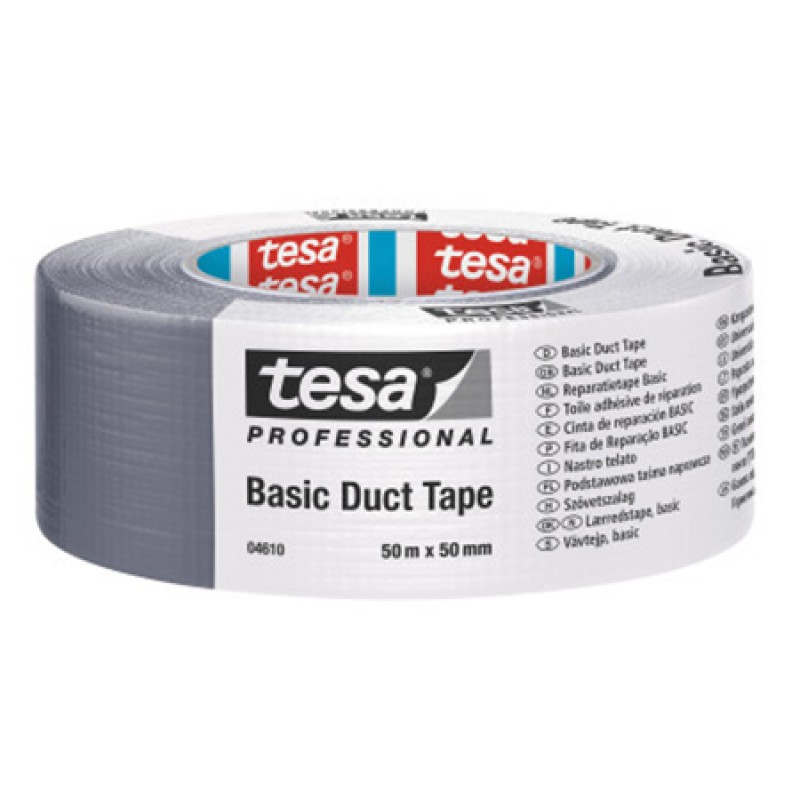 Banda adeziva reparare Tesa, 25 m x 50 mm, Argintiu shopu.ro