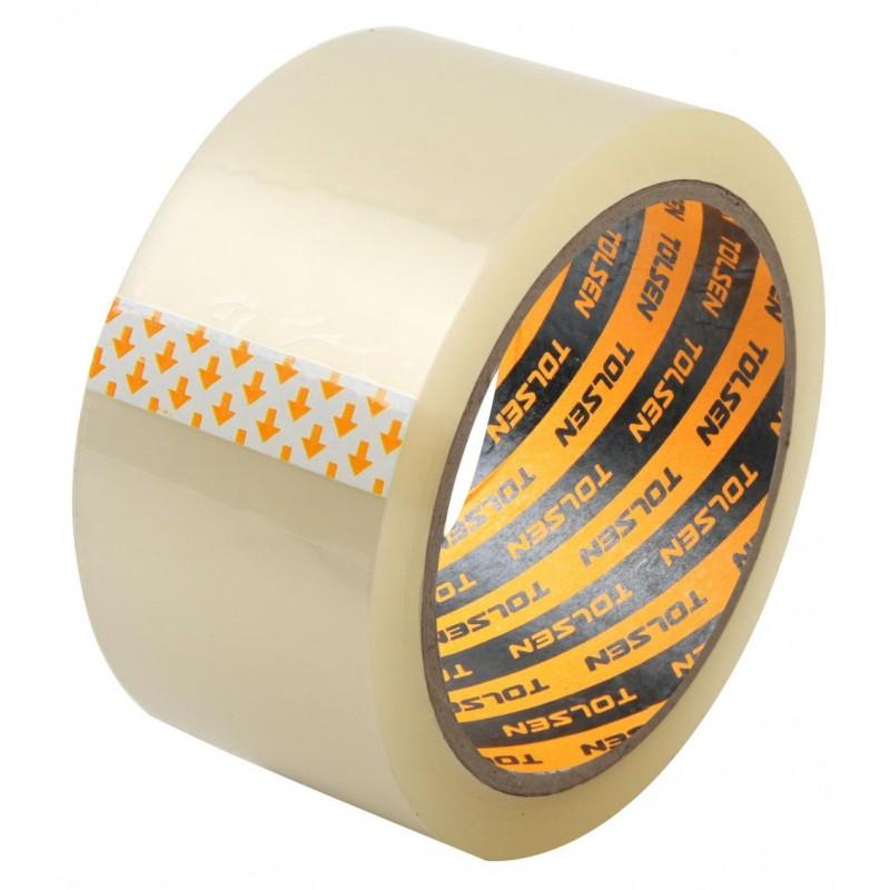 Banda adeziva transparenta Tolsen, 48 mm x 100 m 2021 shopu.ro