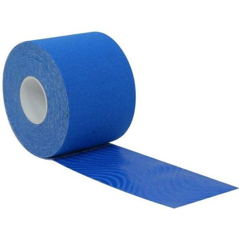 Banda Kinesio, 50 mm x 5 m, bumbac, Albastru 2021 shopu.ro