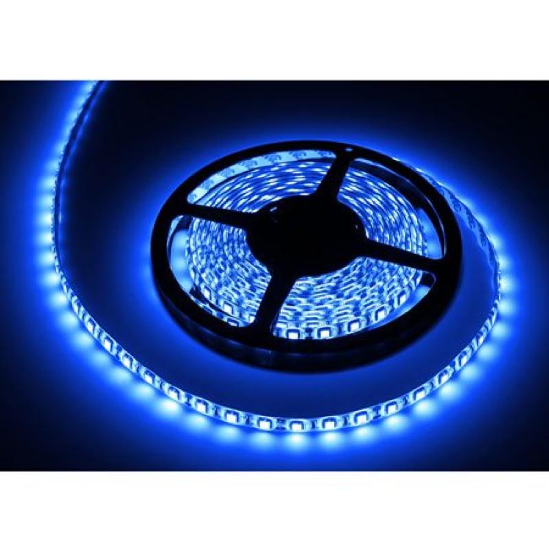 Banda LED 300 diode IP65, 5 m, 1.2 A, 12 V, culoare albastru, waterproof 2021 shopu.ro