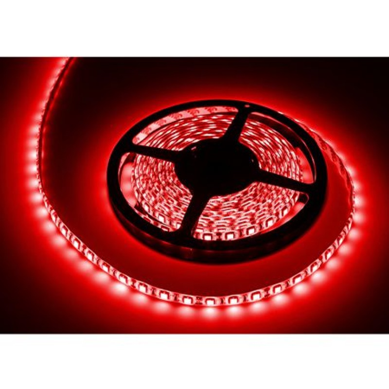 Banda LED 300 diode IP65, 5 m, 1.2 A, 12 V, culoare rosu, waterproof shopu.ro