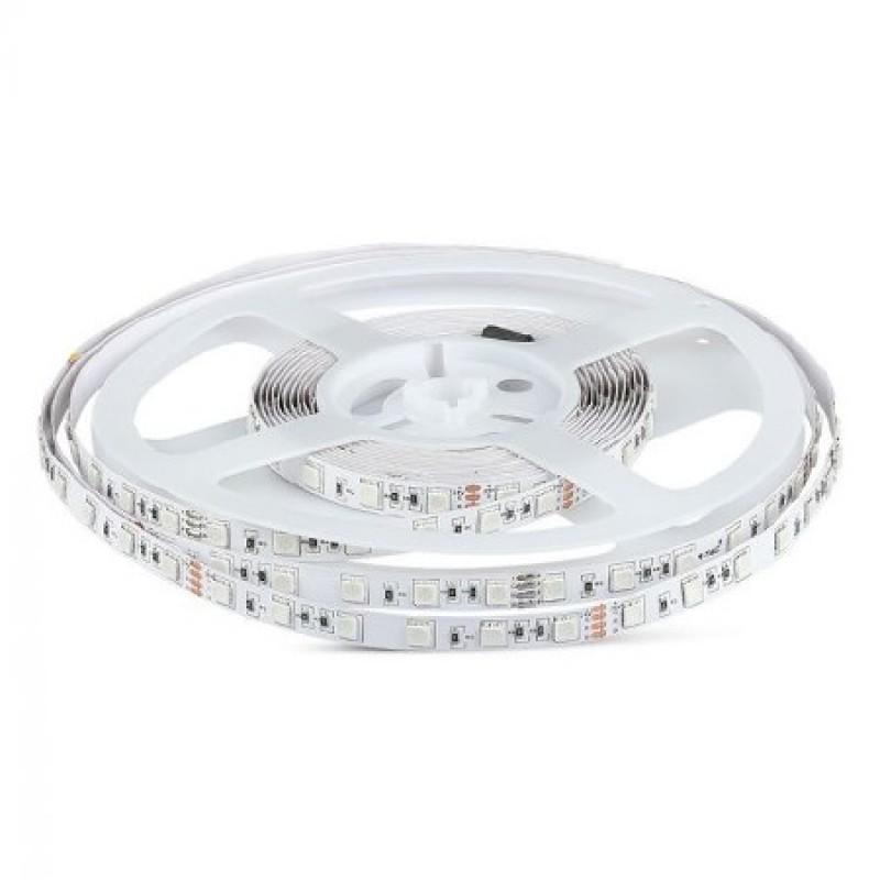 Banda LED SMD V-Tac, 9 W, 24 V, 60 LED/M, 3000 K, IP20, 600 lumeni, 5 metri shopu.ro