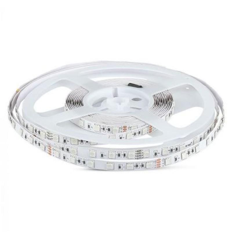 Banda LED SMD5050 V-Tac, 24 V, 5 m, 6400 K, 60 x LED, lumina alb rece