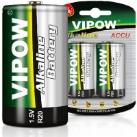 Set 2 baterii alcaline Vipow, 1.5 V, D-LR20, blister