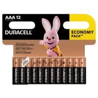 Set baterii alcaline Duracell, LR03 (AAA), 12 bucati