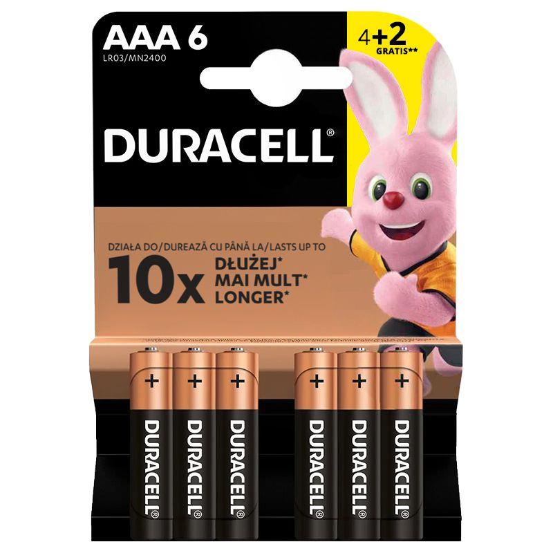 Set 6 baterii alcaline Duracell, LR03, blister 2021 shopu.ro