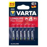 Set baterii alcaline LR03 Max Power Varta, 6 bucati