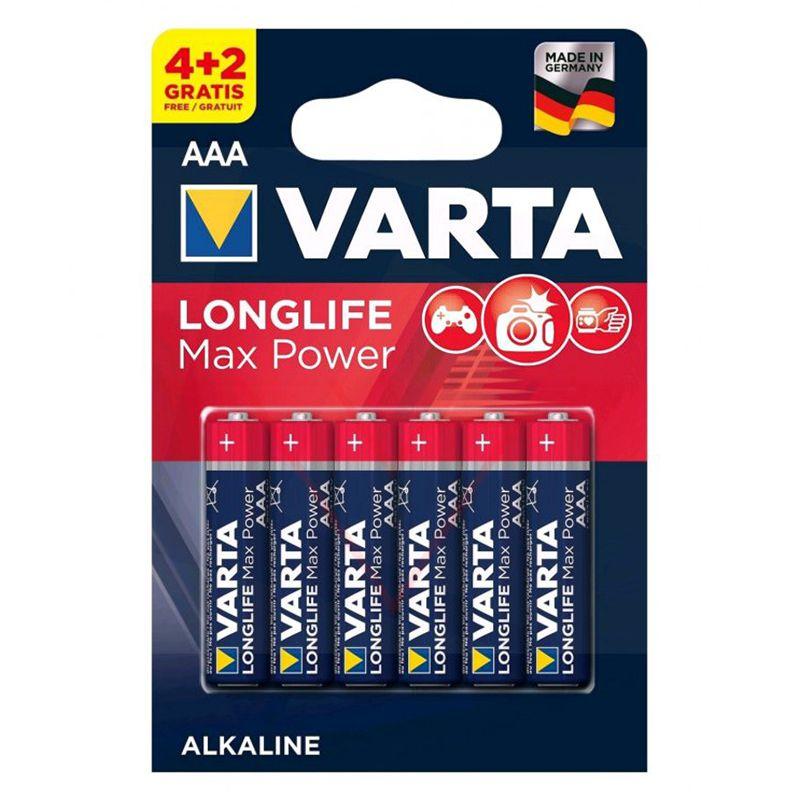 Set baterii alcaline LR03 Max Power Varta, 6 bucati 2021 shopu.ro