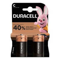 Set 2 baterii alcaline Duracell, LR14, 1.5 V, blister