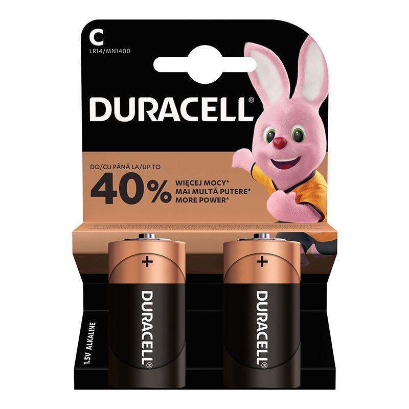 Set 2 baterii alcaline Duracell, LR14, 1.5 V, blister 2021 shopu.ro