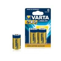 Baterie alcalina Varta Longlife, marime LR14 (C), 2 bucati