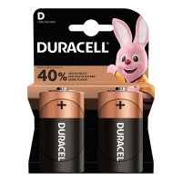 Set 2 baterii alcaline Duracell, LR20, 1.5 V, blister