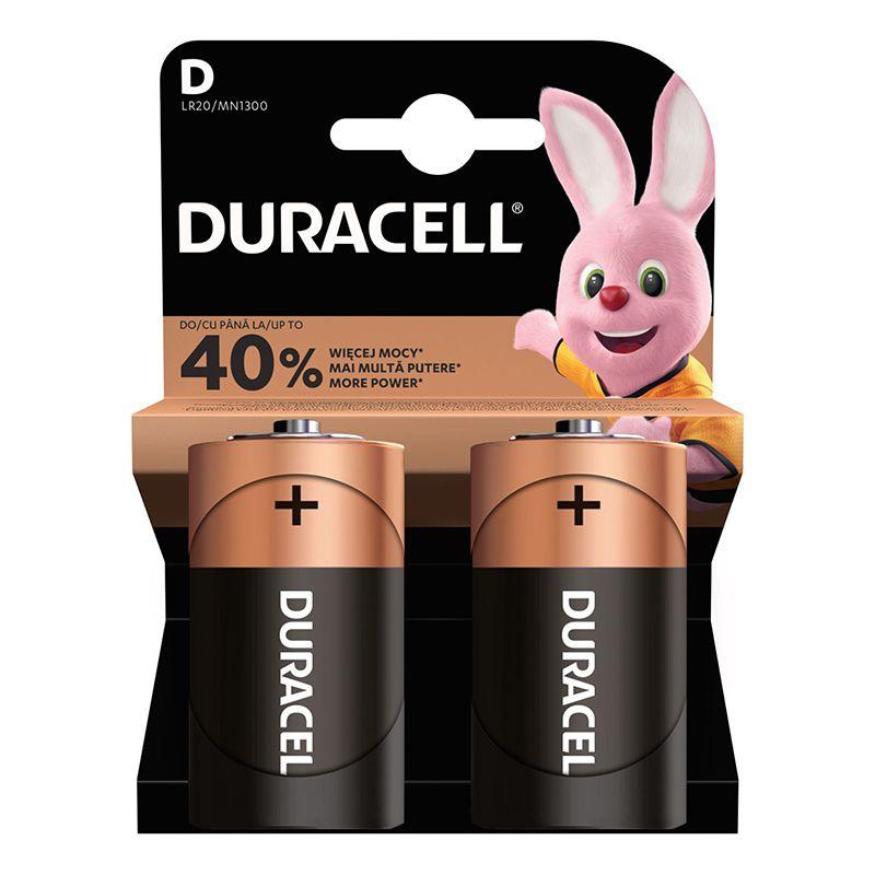 Set 2 baterii alcaline Duracell, LR20, 1.5 V, blister 2021 shopu.ro