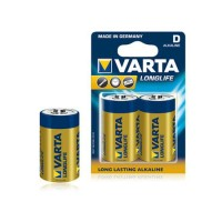 Baterie Alcalina Varta Longlife R20, 2 bucati